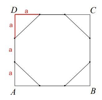 Każdy bok kwadratu ABCD podzielono na 3 równe