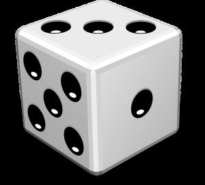 W pięciu rzutach standardową sześcienną kostką do gry, jeżeli wynik każdego rzutu będzie inny, można otrzymać łącznie dokładnie 20 oczek.