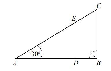 Na bokach trójkąta prostokątnego ABC zaznaczono punkty D i E