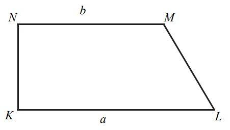 Dany jest trapez prostokątny KLMN, którego podstawy mają długości