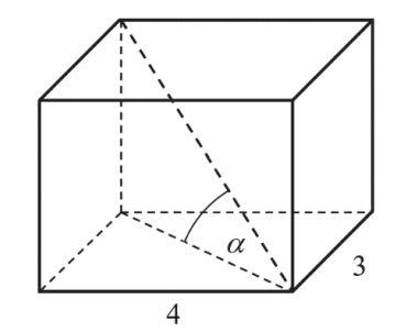 Podstawą graniastosłupa prostego jest prostokąt o bokach długości 3 i 4