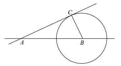 Punkt B jest środkiem okręgu.