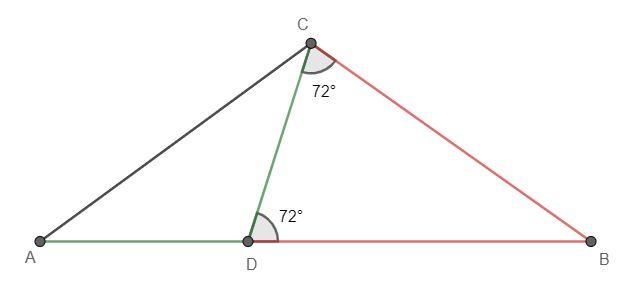 Dany jest trójkąt równoramienny ABC, w którym |AC|=|BC| krok 2