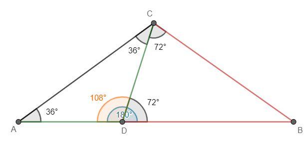 Dany jest trójkąt równoramienny ABC, w którym |AC|=|BC| krok 4