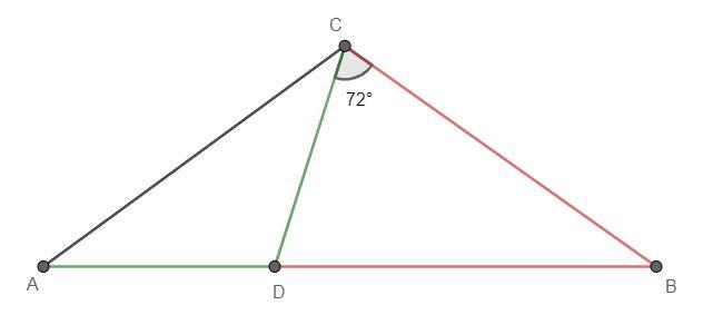 Dany jest trójkąt równoramienny ABC, w którym |AC|=|BC| krok 1